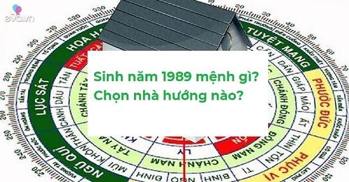 Sinh năm 1989 chọn cửa chính Bắc, Tây Bắc, Đông