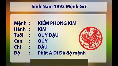 Những người sinh năm 1993 thuộc mệnh Kim - Kiếm Phong Kim